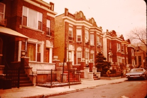Row houses in Brooklyn 1975